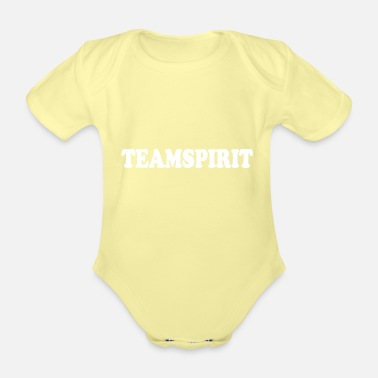 Team Spirit team Spirit - Organic Short-Sleeved Baby Bodysuit