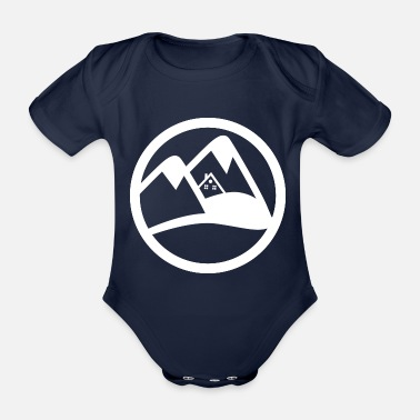 Ski Hut ski hut in alps - Organic Short-Sleeved Baby Bodysuit