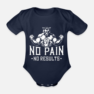 Body panther fitness saying - Organic Short-sleeved Baby Bodysuit