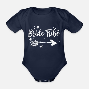Bachelorette Bachelorette bids saying bachelorette party - Organic Short-Sleeved Baby Bodysuit