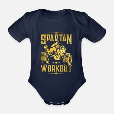 Sparta spartan workout gold - Organic Short-Sleeved Baby Bodysuit