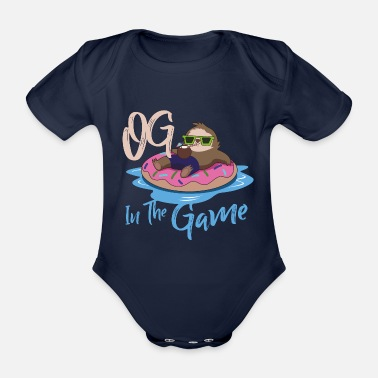 Summertime Sloth summer OG Gangster - Organic Short-Sleeved Baby Bodysuit