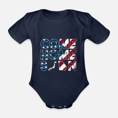 Troops Come Home Soon Japan Georgia - Organic Short-Sleeved Baby Bodysuit