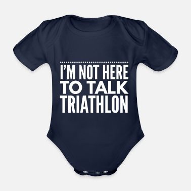 Triathlon Triathlon triathlete swim running gift - Organic Short-Sleeved Baby Bodysuit