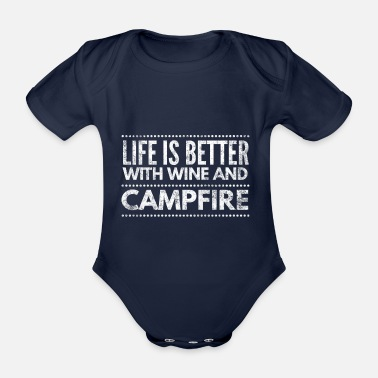 Tent Camping camper nature outdoor times gift 1 - Organic Short-Sleeved Baby Bodysuit