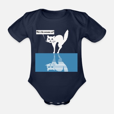 Picture A beautiful cat picture for cat lovers - Organic Short-Sleeved Baby Bodysuit