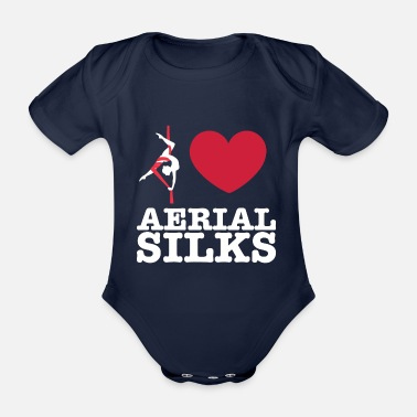 Sports Love Aerial Silks - Organic Short-Sleeved Baby Bodysuit