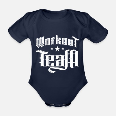 Lifting workout team - Organic Short-Sleeved Baby Bodysuit