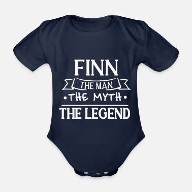 Finn Finn The Man The Mythe The Legend Gift Family - Baby bio-rompertje met korte mouwen
