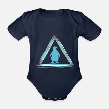 South Africa penguin - Organic Short-sleeved Baby Bodysuit