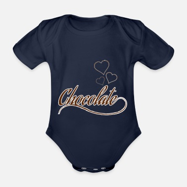 Chocolate chocolate - Organic Short-sleeved Baby Bodysuit