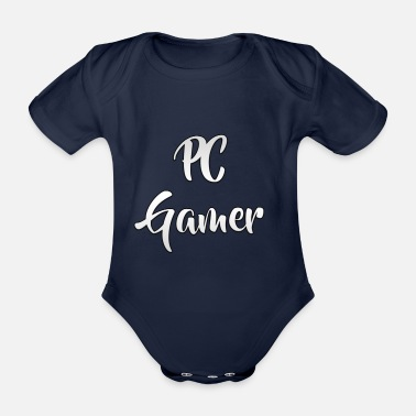 Pc PC gamers - Organic Short-Sleeved Baby Bodysuit