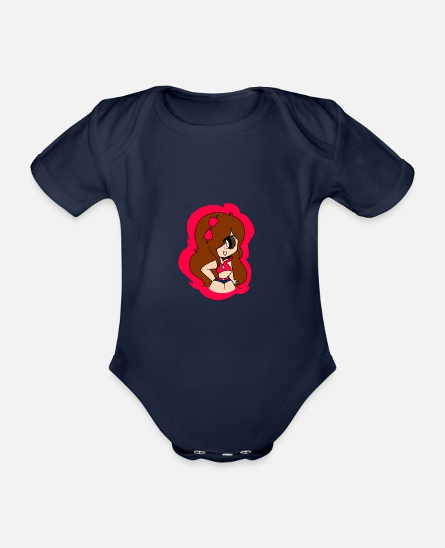 Hen Night Baby Bodysuits - Jennifer Hernandez - Organic Short-Sleeved Baby Bodysuit dark navy