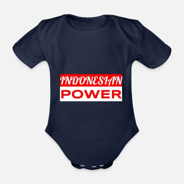 Indonesia Indonesian power - Organic Short-sleeved Baby Bodysuit