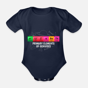 Mole Elizabeth Primary Elements Of Geniuses Gift - Organic Short-sleeved Baby Bodysuit