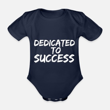 fitness motivation workout statement shirt success - Organic Short-Sleeved Baby Bodysuit