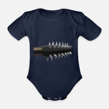 Spike Mace with spikes - Organic Short-Sleeved Baby Bodysuit
