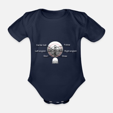 Billiards Training Pool Billiards Snooker Training - Organic Short-Sleeved Baby Bodysuit