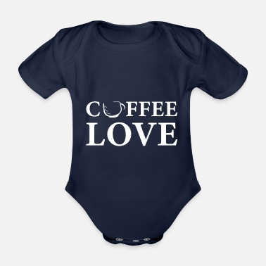 Morning Coffee love coffee fan coffee - Organic Short-sleeved Baby Bodysuit