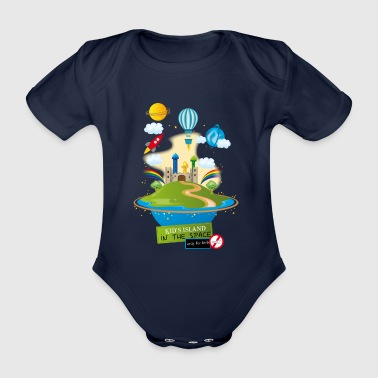 kid's island in the space - Body bébé bio manches courtes