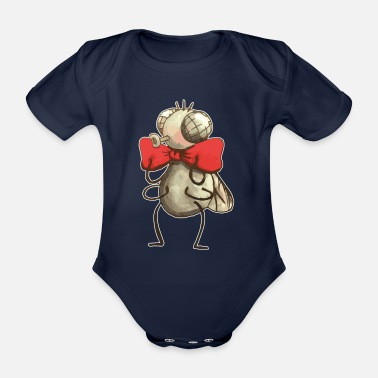 Fly Fly with fly - Organic Short-sleeved Baby Bodysuit
