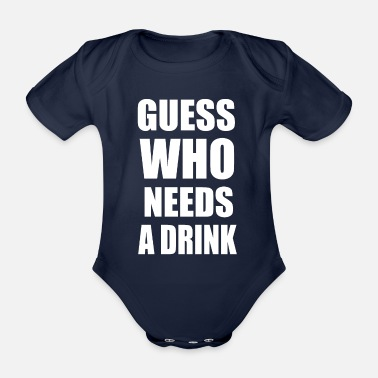 Drink drinks - Organic Short-Sleeved Baby Bodysuit