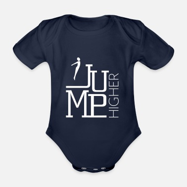 Jumping Jump Higher - Jumping Trampoline Jumping - Organic Short-Sleeved Baby Bodysuit