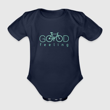 Bmx cool bike design, good feeling - Organic Short-sleeved Baby Bodysuit