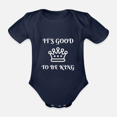 Monarchy King crown monarchy nobility coronation ruler - Organic Short-Sleeved Baby Bodysuit