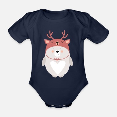 WINTER BEAR - Baby Bio-Kurzarm-Body