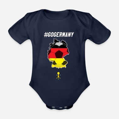 Fanshirt Fanshirt, football, Germany - Organic Short-Sleeved Baby Bodysuit