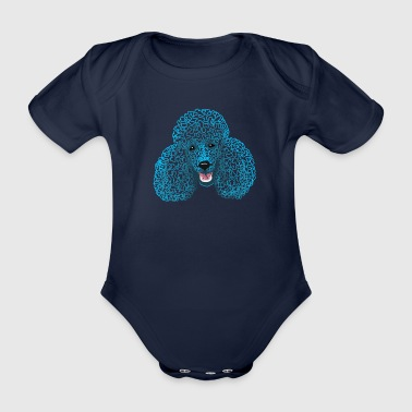 Poodle - poodle head - drawing / poodle / poodle mum - Organic Short-sleeved Baby Bodysuit