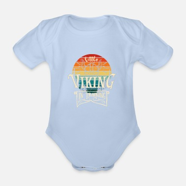 Baby Little Viking In Training - Metal Baby Child - Organic Short-Sleeved Baby Bodysuit