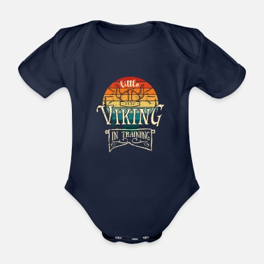 Viking Little Viking In Training - Metal Baby Child - Organic Short-Sleeved Baby Bodysuit