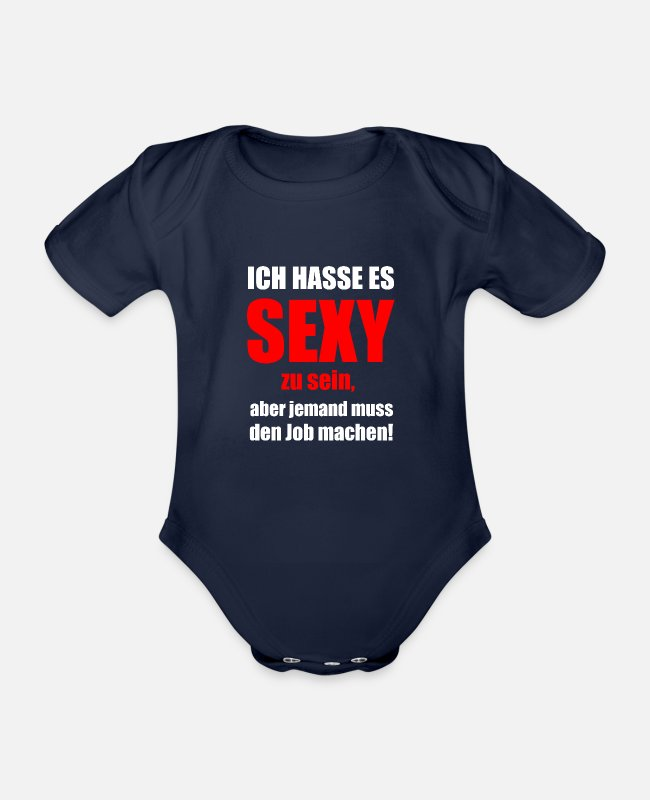 Occupation Baby Bodysuits - job sexy - Organic Short-Sleeved Baby Bodysuit dark navy