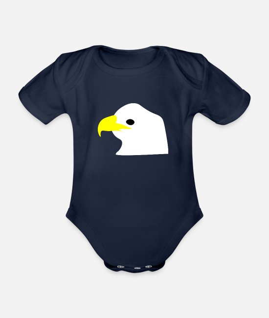 Boss Baby Bodysuits - Eagle - Organic Short-Sleeved Baby Bodysuit dark navy