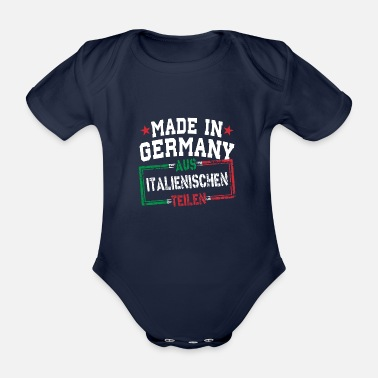 Italien Made in Germany aus Italien - Baby Bio-Kurzarm-Body