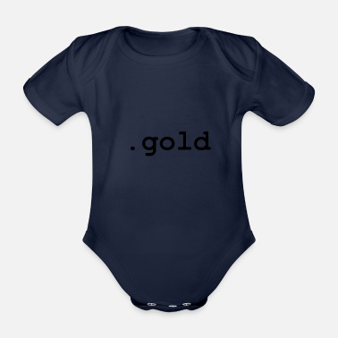 Gold .gold - Organic Short-Sleeved Baby Bodysuit