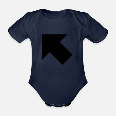 arrow full upperleft - Organic Short-Sleeved Baby Bodysuit
