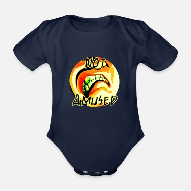 Amusing Not amused - Organic Short-sleeved Baby Bodysuit