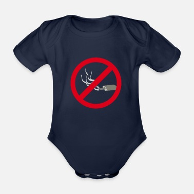 Exhausting Exhaust banned - Organic Short-sleeved Baby Bodysuit
