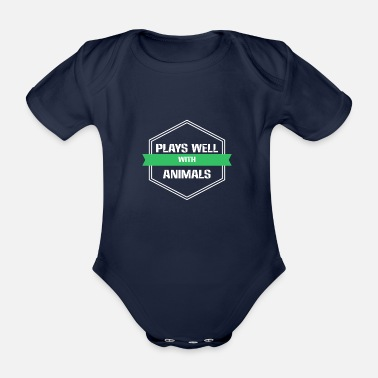 Animal Animal Welfare - Plays well with Animals - Organic Short-sleeved Baby Bodysuit