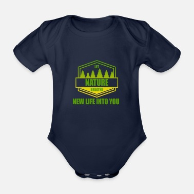 Nature Conservation Nature - conservation - Organic Short-Sleeved Baby Bodysuit