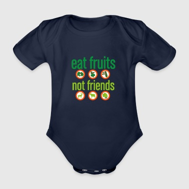 Vegan vegetarian animal welfare gift idea - Organic Short-sleeved Baby Bodysuit