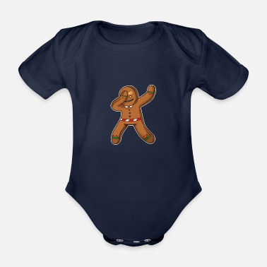 Gingerbread Man Gingerbread man - Organic Short-sleeved Baby Bodysuit