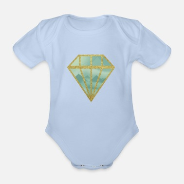 Indie Indie diamond - Organic Short-Sleeved Baby Bodysuit
