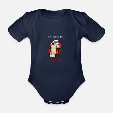 5a6929b78 Funny Rude Santa Ugly Christmas Sweater Funny Xmas - Organic Short-Sleeved  Baby Bodysuit