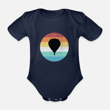 Hot Air Balloon hot air balloon - Organic Short-sleeved Baby Bodysuit