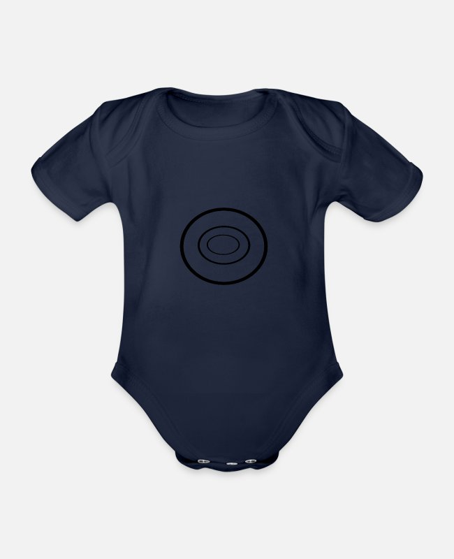 Rain Baby Bodysuits - drops - Organic Short-Sleeved Baby Bodysuit dark navy