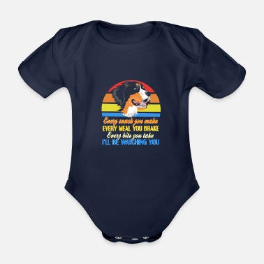 Nature Conservation Bernese Mountain Dog Farm Dog Gifts - Organic Short-Sleeved Baby Bodysuit